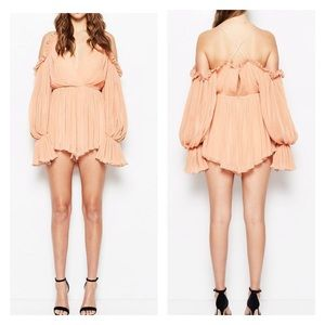 Alice McCall Shake for Me Playsuit In Apricot